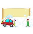 car wash banner vector image vector image
