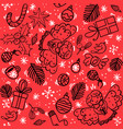 christmas pattern with angel sweets balls vector image vector image