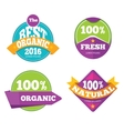 Colorful organic fresh natural labels set vector image