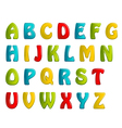 colors shiny letters holiday fonts vector image vector image