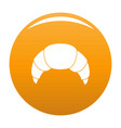 croissant icon orange vector image