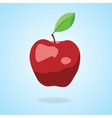 Cute cartoon red apple