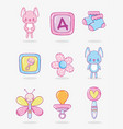 cute cartoons for babys vector image vector image