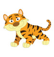 cute orange and brown tiger vector image vector image