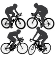 Cycling Silhouette vector image