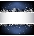 dark blue snow mesh background with textarea vector image vector image