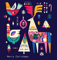 decorative christmas collection in scandinavian vector image vector image