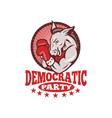 Democrat Donkey Mascot Boxing vector image vector image