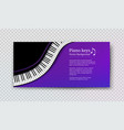 design template with top view piano keys vector image