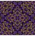 Ethnic seamless mosaic pattern vector image