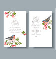 finch pomegranate branch cards vector image