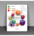 flyer layout with elements infographics vector image vector image