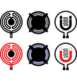 Gas electric and induction cooktop icons vector image