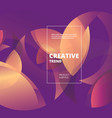 geometric rounded shapes template vector image vector image