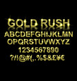 gold rush gold alphabetic fonts vector image vector image