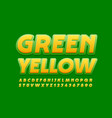 green and yellow font modern creative font vector image