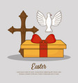 happy easter day design vector image