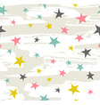 Hipster Geometric Star seamless Pattern Star vector image vector image
