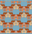 house school seamless pattern back to school vector image
