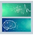 Human brain and pulse vector image vector image