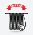 knitting tools hand made symbol vector image vector image