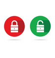 lock and unlock icon with white padlock vector image vector image