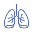 lung or human lungs icon line outline art vector image vector image
