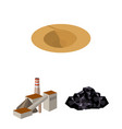 mining industry cartoon icons in set collection vector image
