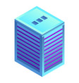 modern city building icon isometric style vector image vector image