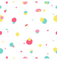 modern seamless dots doodle pattern vector image