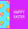 modern simple funny and colorful happy easter vector image vector image