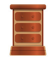 old drawer icon cartoon style vector image vector image