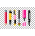 Painting Tools Pen Pencil and Marker Flat Design vector image