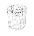 pig in the bucket vector image vector image
