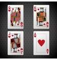 Poker design cards and game concept casino vector image vector image