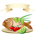 prepared fish vector image vector image