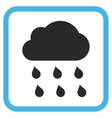 Rain Cloud Icon In a Frame vector image vector image