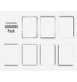 realistic shadows collection page dividers vector image