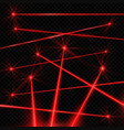 realistic style laser beams on black background vector image