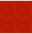 Red brickwork seamless pattern vector image