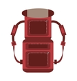 red packback travel bag tourist vector image vector image