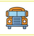 school bus color icon vector image