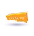 seasonal sale isolated trendy geometric label vector image vector image
