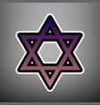 shield magen david star symbol of israel vector image vector image