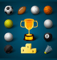 sports realistic icons set vector image