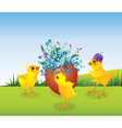 Three chicken and egg vector image vector image