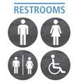 toilet icon symbol grey wood plank texture vector image vector image