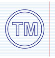 trade mark sign navy line icon on vector image vector image