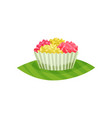 traditional indonesian cupcake delicious dessert vector image