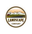 vintage landscape logo design vector image